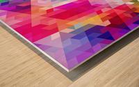 VIVID PATTERN VIII Wood print