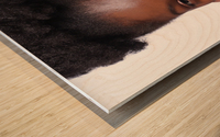 Black Woman Headshot Wood print