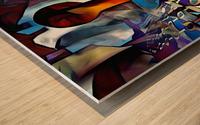 Symbolic Internet Wood print