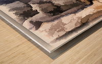 The baker Wood print