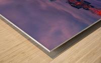 LON 009 Canary Wharf Reflection  Wood print