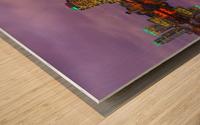 LON 008 Canary Wharf Reflection  Wood print