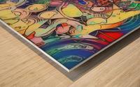 Intercâmbio remix Wood print