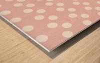 BISQUE Polka Dots Wood print