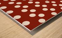 Crimson Polka Dots Wood print