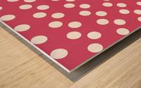 Sweet Pink Polka Dots Wood print