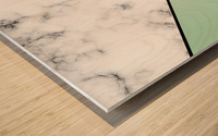 ABSTRACT GREEN PASTEL MODERN MARBLE Wood print