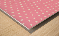 Carnation Pink Heart Shape Pattern Wood print
