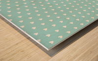 Kids Green Blush Heart Shape Pattern Wood print