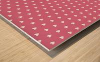 Pale Violet Red Heart Shape Pattern Wood print