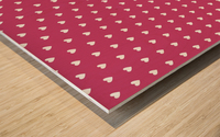 Fuchsia Rose Heart Shape Pattern Wood print