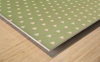 Green Blush Heart Shape Pattern Wood print