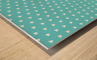 Sweet Light Blue Heart Shape Pattern Wood print