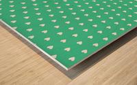 Shamrock Heart Shape Pattern Wood print