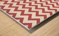 BERRY CHEVRON Wood print