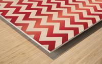 APPLE CHEVRON Wood print