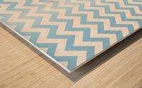 BLUE  PASTEL CHEVRON Wood print