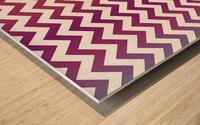 PLUM CHEVRON Wood print