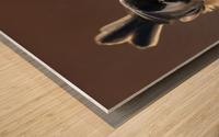 Black capped Chickadee Wood print