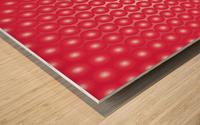 Red Pearl Pattern Wood print