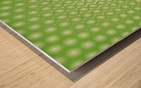 Yellow Green Pearl Pattern Wood print