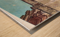 The first trade fair by Giovanni Segantini Wood print