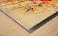 The Red Vespa Wood print