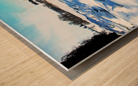 Frazil Ice On The Grand River West Montrose Wood print