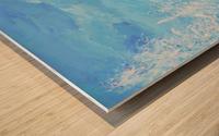 Monochromatic Blue Rocky Mountains Wood print