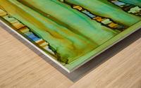 Between the lines 1 Wood print