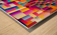 Geometric Abstract Painting Wood print