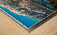 Dream Blue Wood print