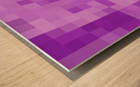 Abstract Pixel Art - Purple Shades Wood print