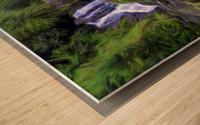 Upper Hanawi Falls Wood print