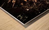 Mineral Gold  Impression sur bois