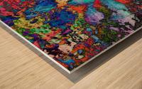 Paw Prints Colour Explosion Wood print