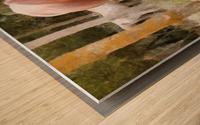 Pregnant Tan Mare Grazing Wood print