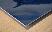 Blue Heart Wood print