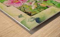 Soft Rose Fragments Wood print