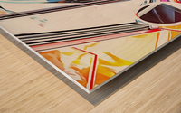 Lancia Fulvia Through The Window Wood print