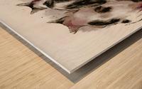 Feline Chow Time Wood print