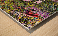 My Secret Iris Garden Wood print