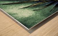 PEARL GLITTER EFFECT LEAVES TROPICAL DESIGN Wood print