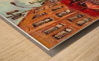 RUE ST VIATEUR NEAR CLARK MONTREAL PAINTING WINTER SCENE WITH HOCKEY Wood print