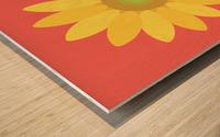 Sunflower (9) Wood print
