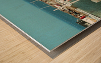 Low Tide - Canadian Harbour Wood print