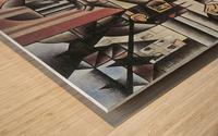 Man in Cafe -1- by Juan Gris Wood print