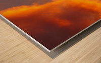 Golden Cloudscape 01 Wood print