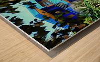 Approach To Cubist Villa Jardin Majorelle Wood print