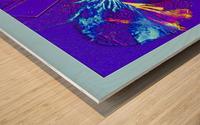 Polarization - Taken With High Powered Microscope Wood print
